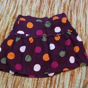 Girls 7 8 fall winter polkadot skirt crazy 8